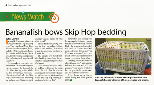 Bananafish debuts two collections of licensed Skip Hop bedding
